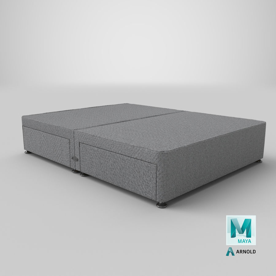Bed Base 08 Grey royalty-free 3d model - Preview no. 26