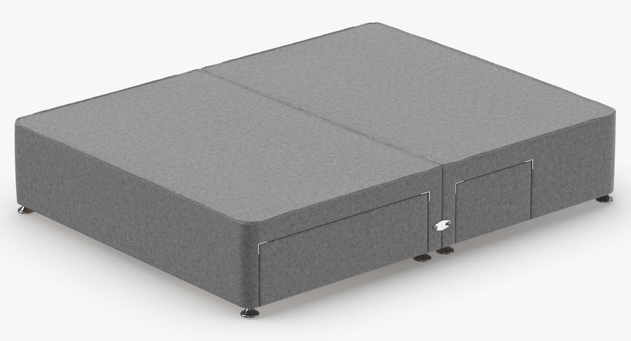 Bed Base 08 Grey royalty-free 3d model - Preview no. 6