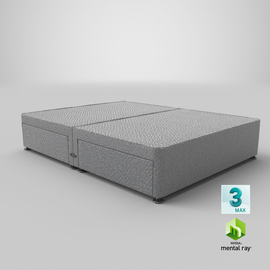 Bed Base 08 Grey royalty-free 3d model - Preview no. 24