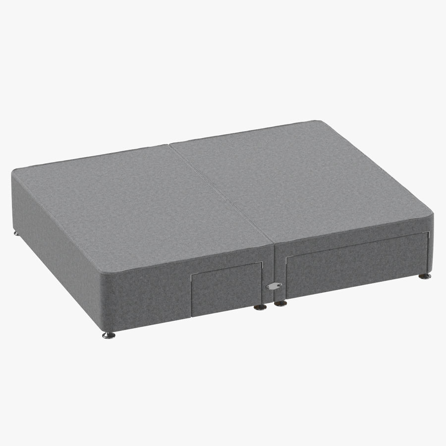 Bed Base 08 Grey royalty-free 3d model - Preview no. 1