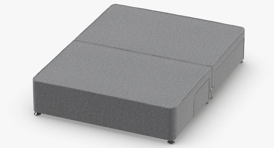 Bed Base 08 Grey royalty-free 3d model - Preview no. 4