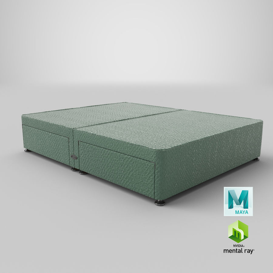 Base de cama 08 hortelã royalty-free 3d model - Preview no. 27