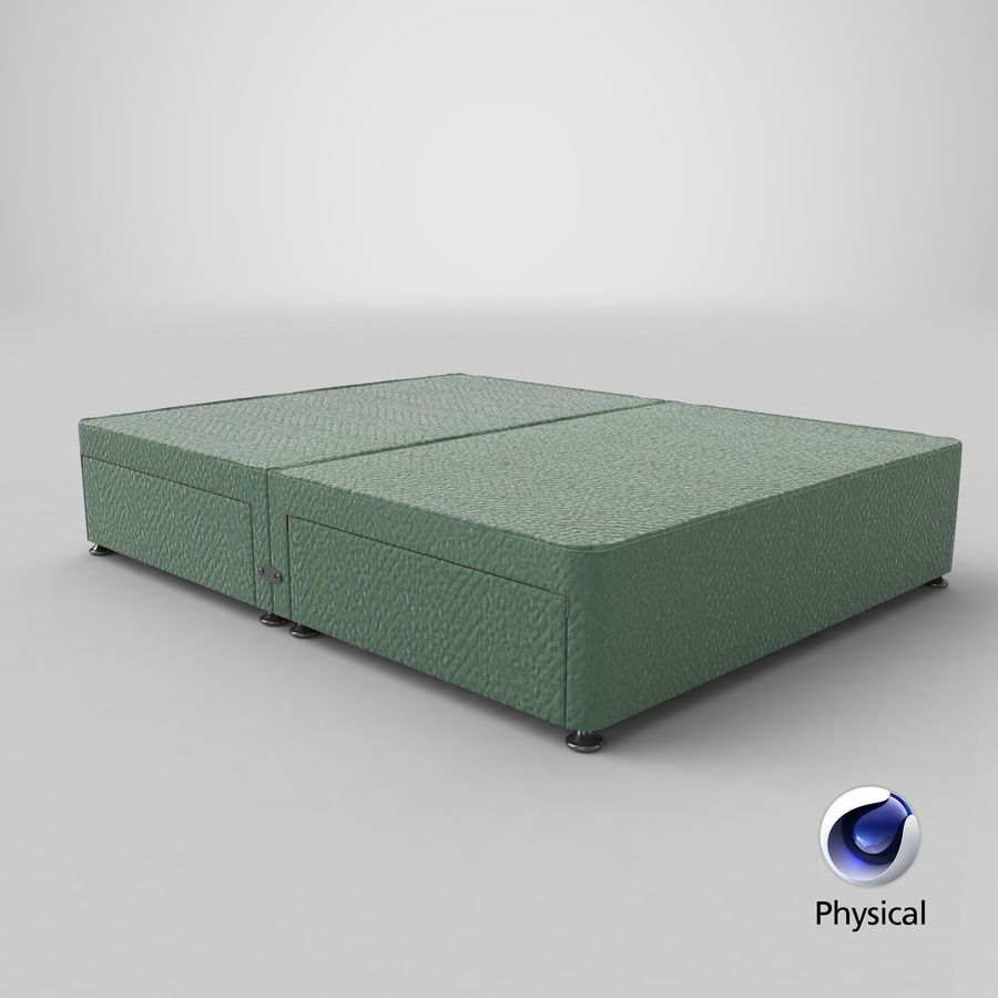 Base de cama 08 hortelã royalty-free 3d model - Preview no. 21