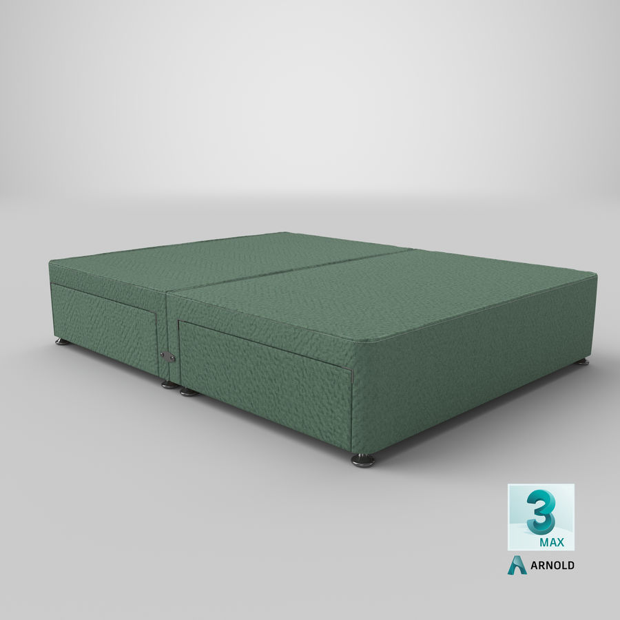 Base de cama 08 hortelã royalty-free 3d model - Preview no. 23