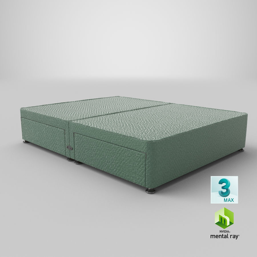 Baza łóżka 08 Mint royalty-free 3d model - Preview no. 24