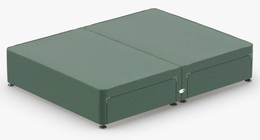 Bed Base 09 Mint royalty-free 3d model - Preview no. 6