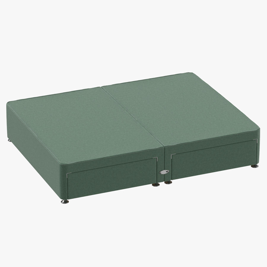 Bed Base 09 Mint royalty-free 3d model - Preview no. 1
