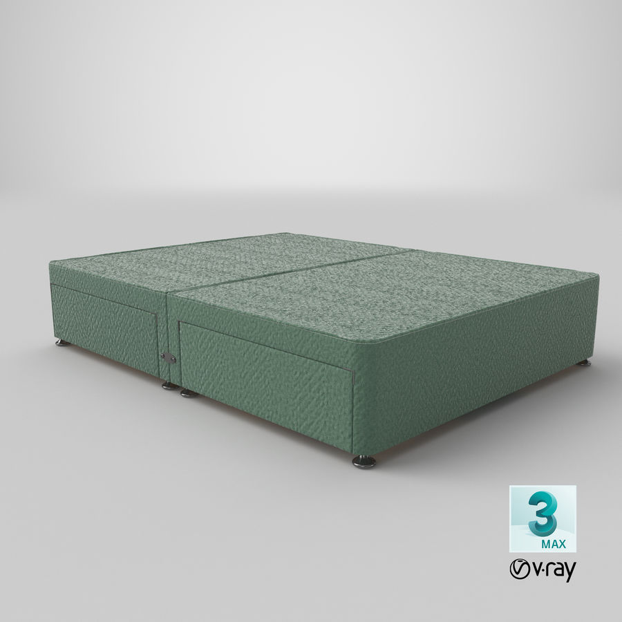 Bed Base 09 Mint royalty-free 3d model - Preview no. 25