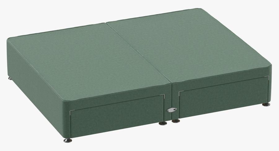 Bed Base 09 Mint royalty-free 3d model - Preview no. 2
