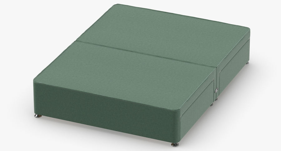 Bed Base 09 Mint royalty-free 3d model - Preview no. 4