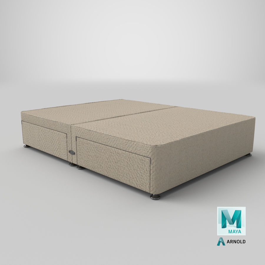 Bed Base 08 Oatmeal royalty-free 3d model - Preview no. 26