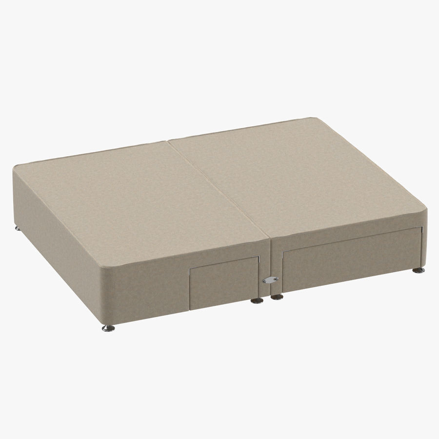 Bed Base 08 Oatmeal royalty-free 3d model - Preview no. 1