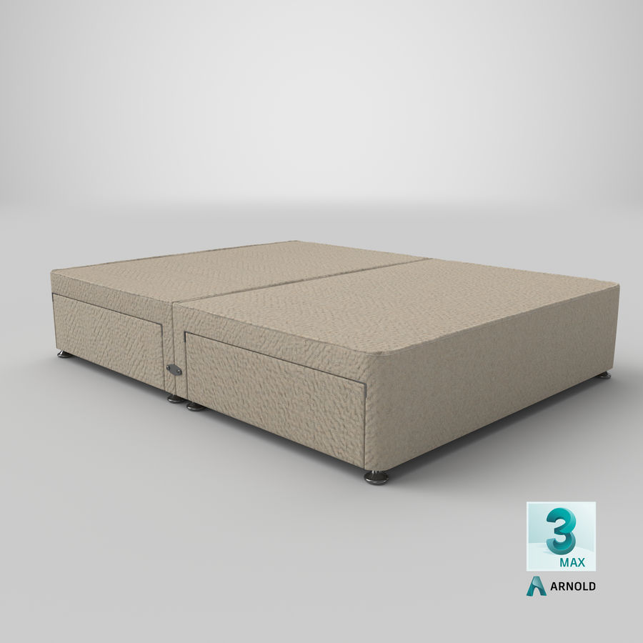 Bed Base 08 Oatmeal royalty-free 3d model - Preview no. 23