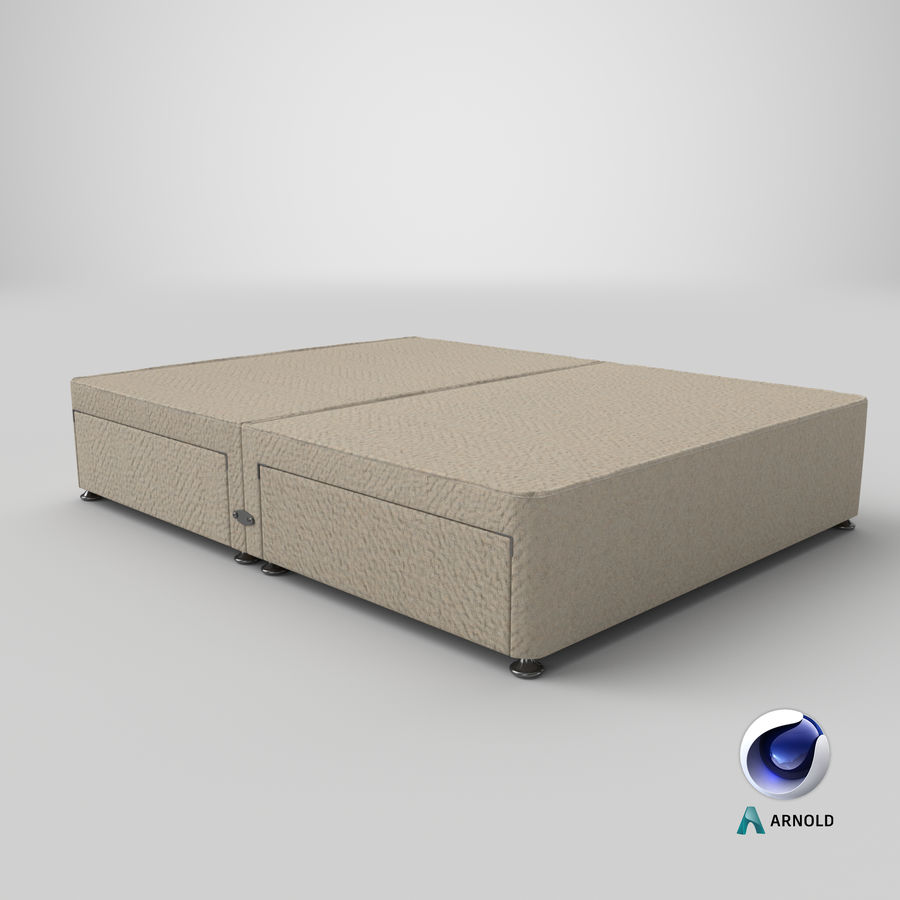 Bed Base 08 Oatmeal royalty-free 3d model - Preview no. 22