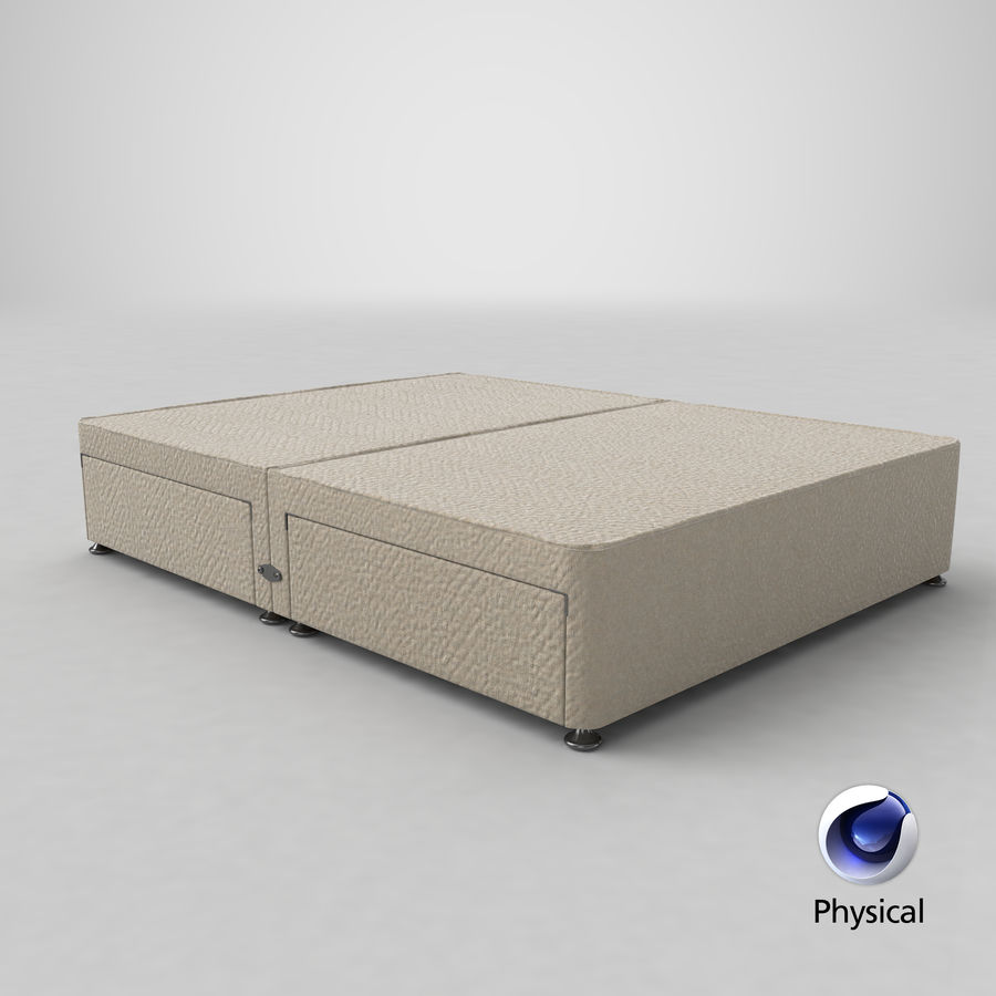 Bed Base 08 Oatmeal royalty-free 3d model - Preview no. 21