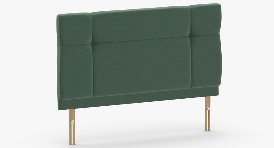 Headboard 13 Mint royalty-free 3d model - Preview no. 3