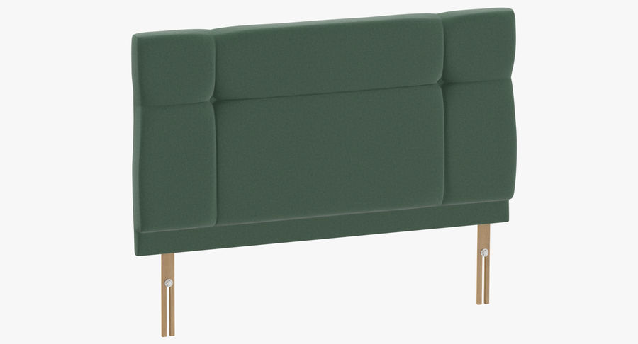Headboard 13 Mint royalty-free 3d model - Preview no. 2