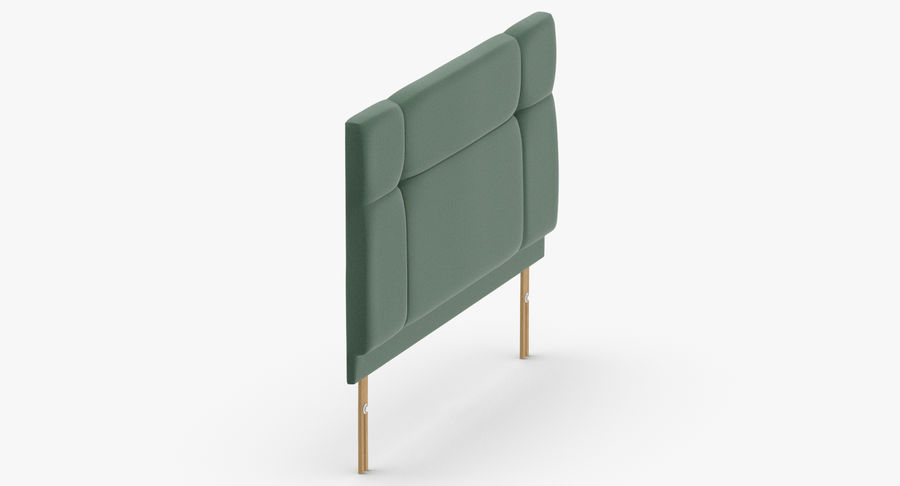 Headboard 13 Mint royalty-free 3d model - Preview no. 4