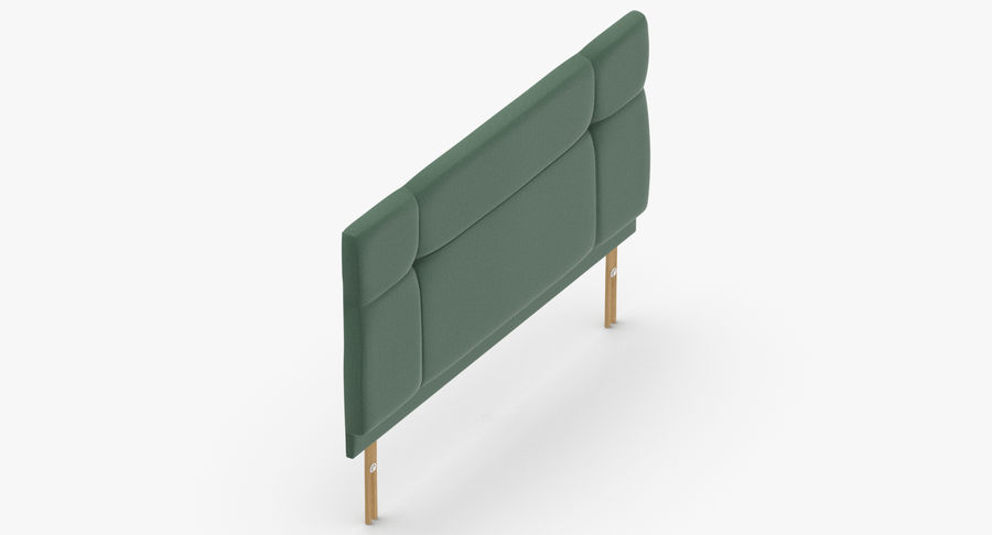 Headboard 13 Mint royalty-free 3d model - Preview no. 7