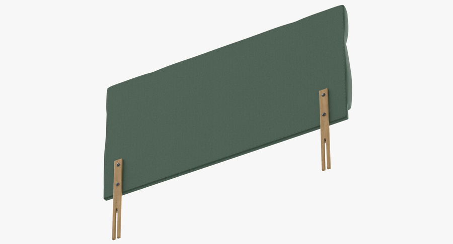 Headboard 13 Mint royalty-free 3d model - Preview no. 8