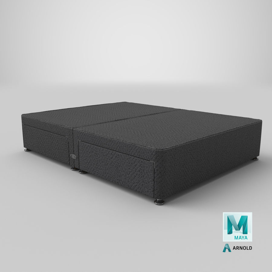Bed Base 09 Charcoal royalty-free 3d model - Preview no. 26