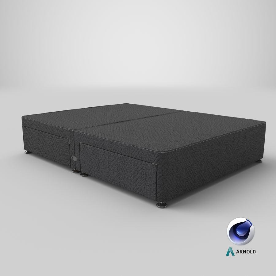 Bed Base 09 Charcoal royalty-free 3d model - Preview no. 22