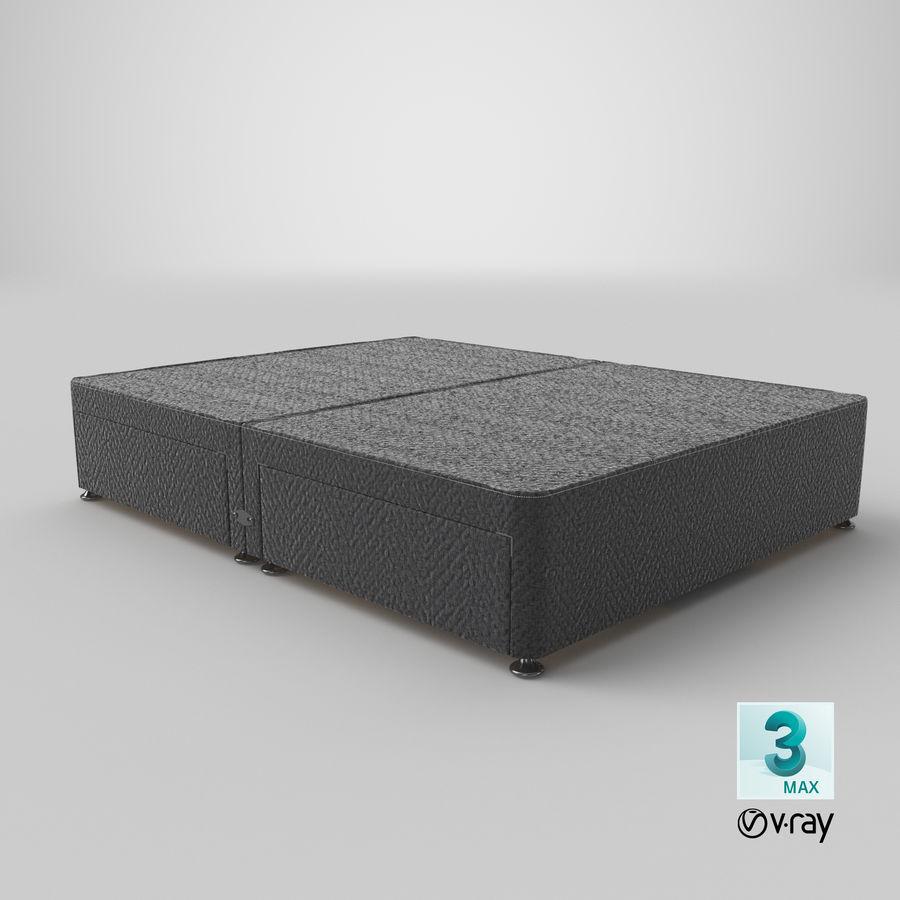 ベッドベース09チャコール royalty-free 3d model - Preview no. 25