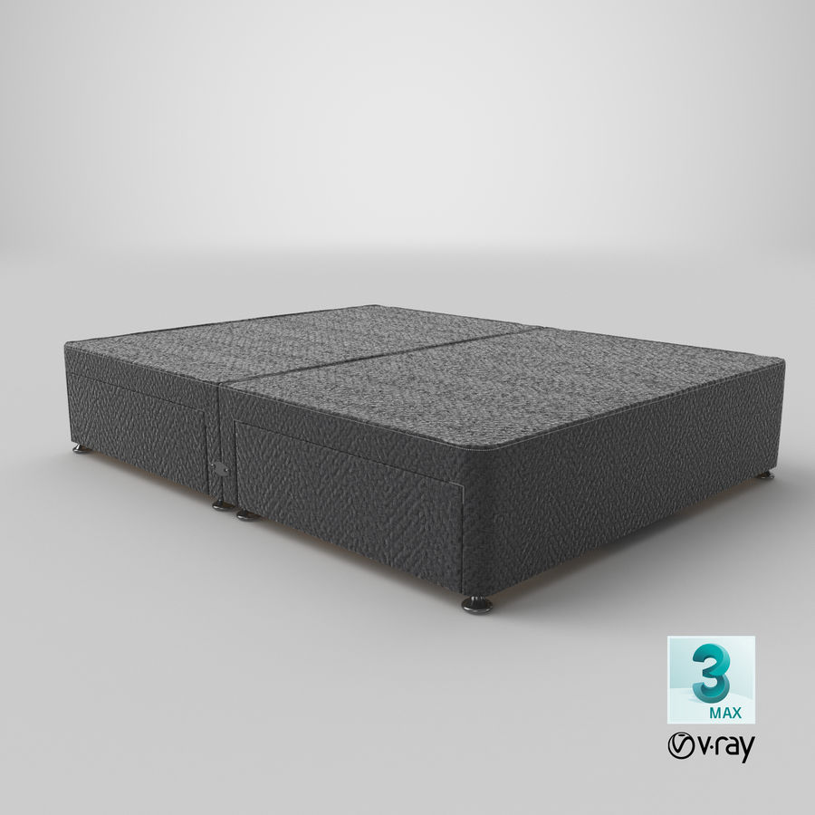 Bed Base 09 Charcoal royalty-free 3d model - Preview no. 25