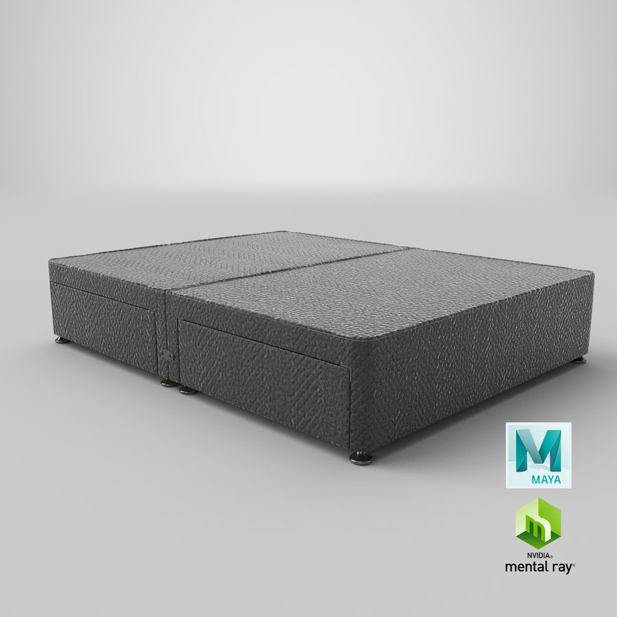 Bed Base 09 Charcoal royalty-free 3d model - Preview no. 27
