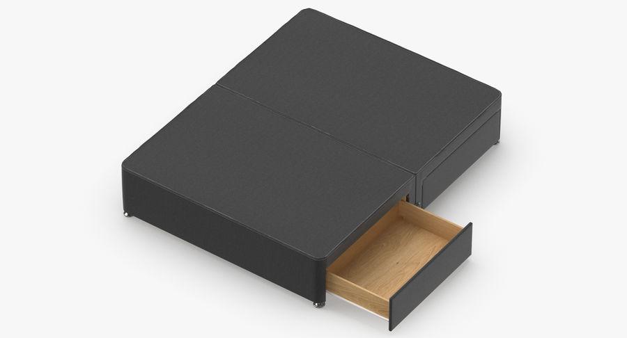 ベッドベース09チャコール royalty-free 3d model - Preview no. 7