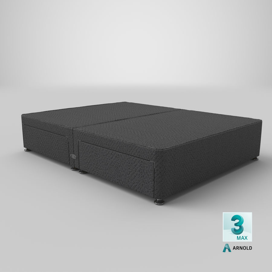 Bed Base 09 Charcoal royalty-free 3d model - Preview no. 23