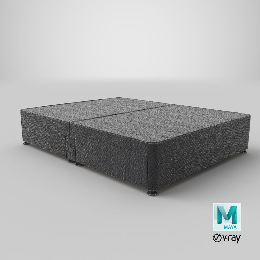 Bed Base 09 Charcoal royalty-free 3d model - Preview no. 28