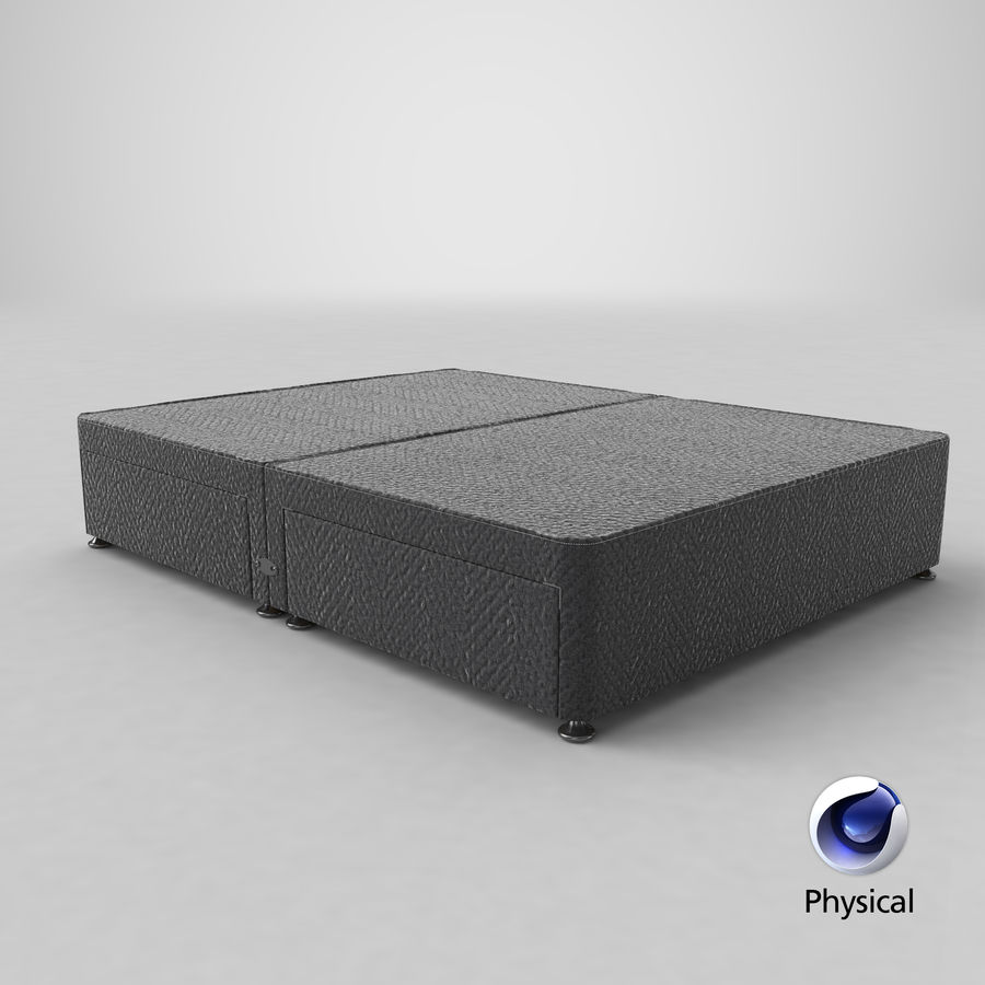 Bed Base 09 Charcoal royalty-free 3d model - Preview no. 21