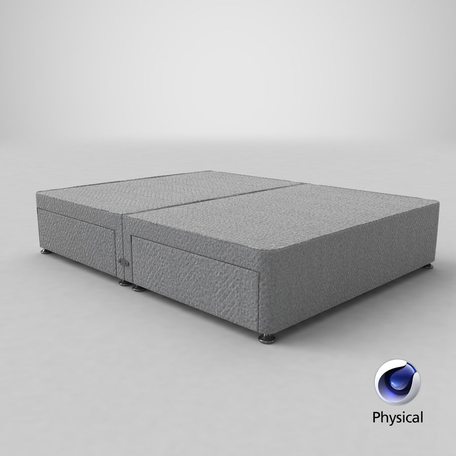 Bettgestell 09 Grau royalty-free 3d model - Preview no. 21