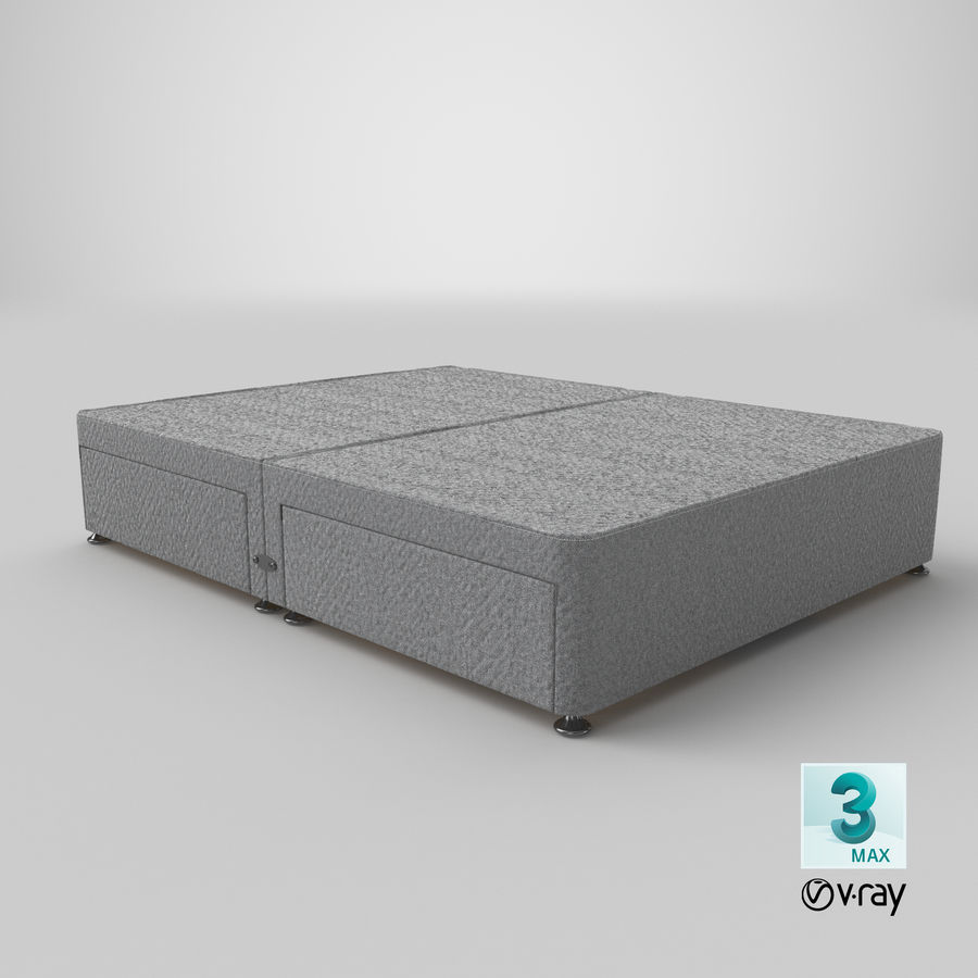 Bettgestell 09 Grau royalty-free 3d model - Preview no. 25