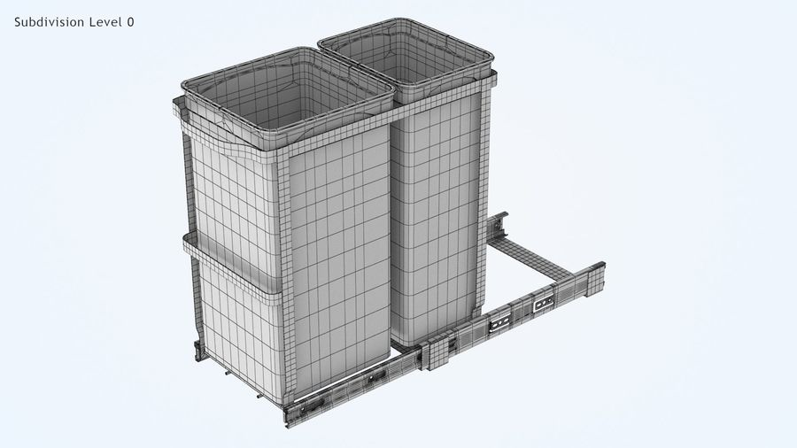 Pullout Trash Can royalty-free 3d model - Preview no. 7