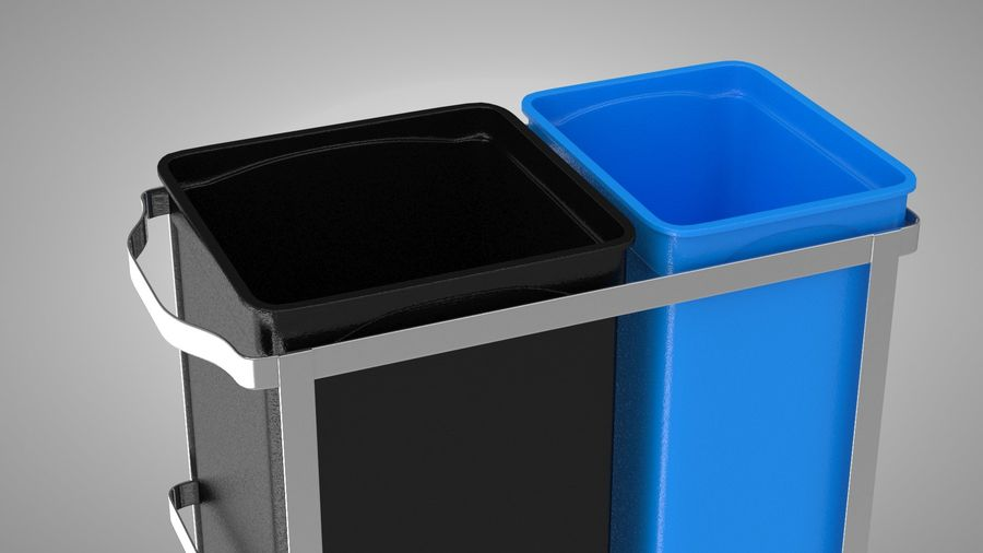 Pullout Trash Can royalty-free 3d model - Preview no. 5