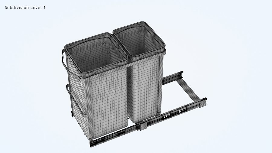 Pullout Trash Can royalty-free 3d model - Preview no. 16