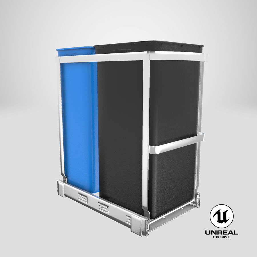 Pullout Trash Can royalty-free 3d model - Preview no. 21