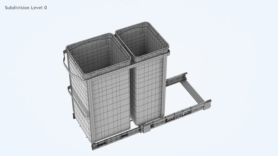 Pullout Trash Can royalty-free 3d model - Preview no. 15