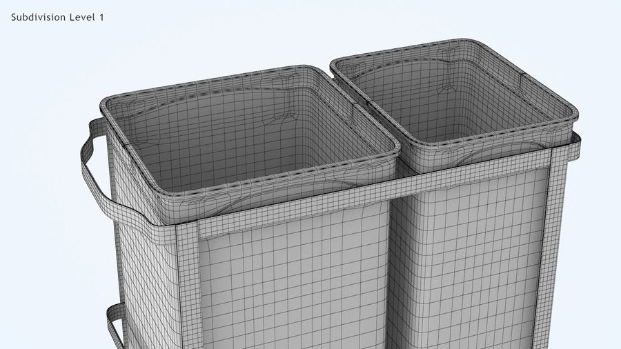Pullout Trash Can royalty-free 3d model - Preview no. 14
