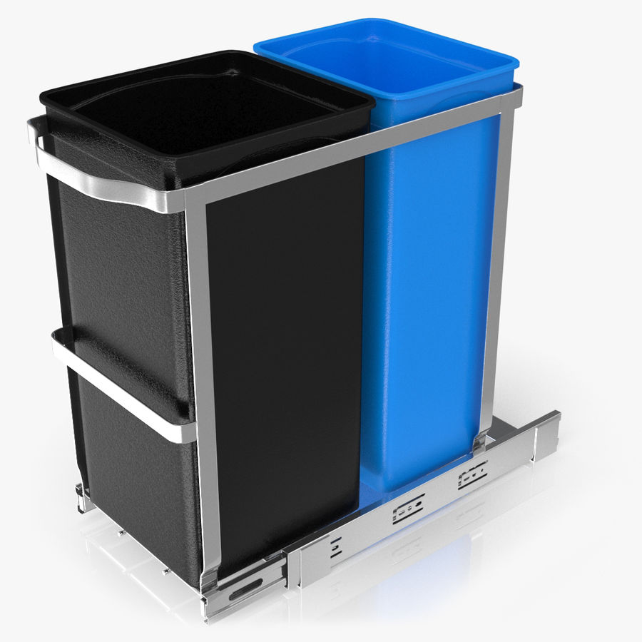 Pullout Trash Can royalty-free 3d model - Preview no. 1