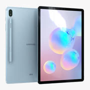 Samsung Galaxy Tab S6 Cloud Blue with Pen 3d model