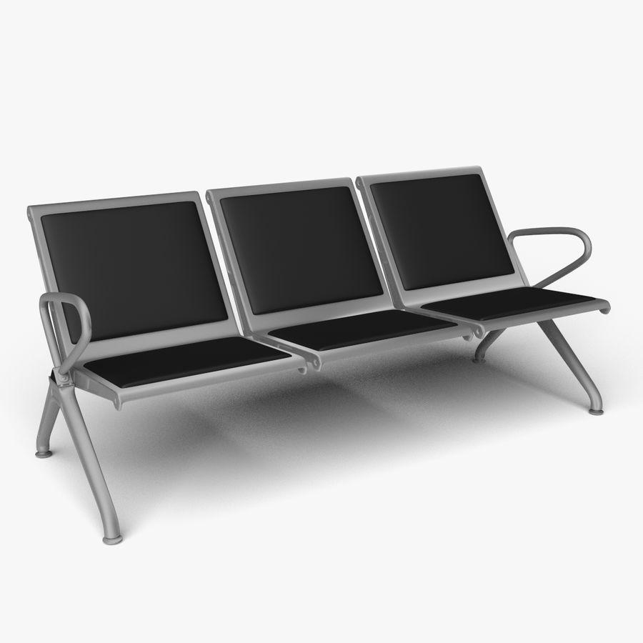 6 Seat Reception Waiting Room Chair 6D Model $69 - .fbx .blend