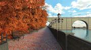 Rue environnement automne 3d model