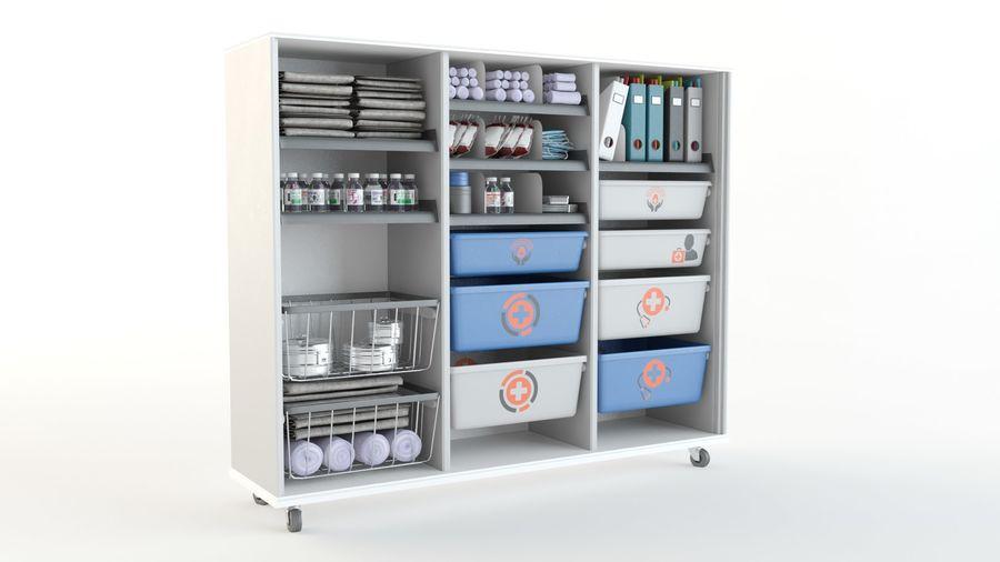 medical cart royalty-free 3d model - Preview no. 5