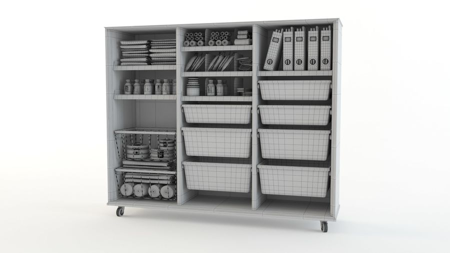 medical cart royalty-free 3d model - Preview no. 14