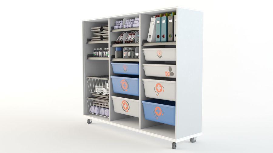 medical cart royalty-free 3d model - Preview no. 6