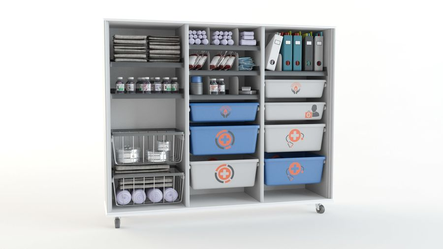 medical cart royalty-free 3d model - Preview no. 4