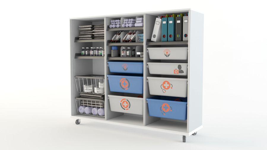 medical cart royalty-free 3d model - Preview no. 7